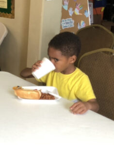 kid having a meal